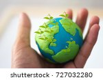 concept of earth day   hand... | Shutterstock . vector #727032280