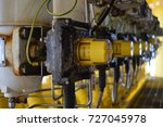 manifold line of oil and gas... | Shutterstock . vector #727045978