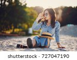 girl on the beach | Shutterstock . vector #727047190