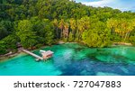 aerial view of small bay in... | Shutterstock . vector #727047883