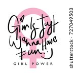 girl power typography   textile ... | Shutterstock .eps vector #727049503