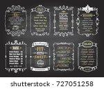 snacks  salads  desserts  soups ... | Shutterstock .eps vector #727051258