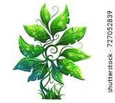 green shrub  bush. elven tree.... | Shutterstock .eps vector #727052839