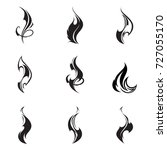 fire flames. collage. | Shutterstock .eps vector #727055170