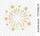 firework gold isolated.... | Shutterstock .eps vector #727058170
