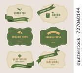 natural label and organic label ... | Shutterstock .eps vector #727060144