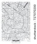 detailed vector poster city map ... | Shutterstock .eps vector #727070200