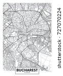 detailed vector poster city map ... | Shutterstock .eps vector #727070224