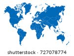 blue world map | Shutterstock .eps vector #727078774