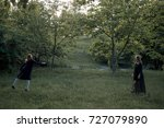 mother and daughter catching... | Shutterstock . vector #727079890
