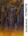 warm colors over the ridges | Shutterstock . vector #727080778