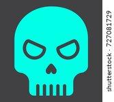 skull glyph icon  halloween and ...   Shutterstock .eps vector #727081729