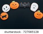 gingerbreads for halloween ... | Shutterstock . vector #727085128