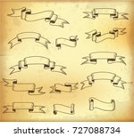 vintage ribbons. vector old... | Shutterstock .eps vector #727088734