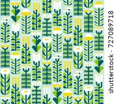 seamless pattern with wild... | Shutterstock .eps vector #727089718