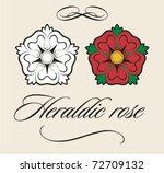 useful heraldic rose with...