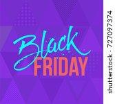 abstract vector black friday... | Shutterstock .eps vector #727097374