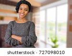 portrait of happy african... | Shutterstock . vector #727098010