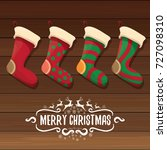 vector cartoon cute christmas...   Shutterstock .eps vector #727098310