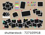set of realistic square frames  ... | Shutterstock .eps vector #727105918