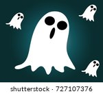 a halloween ghost icon  vector  ... | Shutterstock .eps vector #727107376