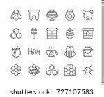 flat vector icons with a thin... | Shutterstock .eps vector #727107583