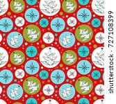 vector seamless pattern with... | Shutterstock .eps vector #727108399