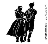 Folklore Dancers With Folk...