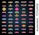 sport emblem typography set.... | Shutterstock .eps vector #727110928