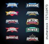 sport emblem typography set.... | Shutterstock .eps vector #727110973