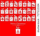 merry christmas. advent... | Shutterstock . vector #727112104