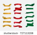 ribbon set vintage design. red... | Shutterstock .eps vector #727113208
