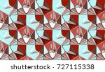3d abstract geometric... | Shutterstock . vector #727115338