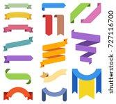 vector ribbons illustration set ... | Shutterstock .eps vector #727116700