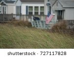 american flag fly in wind from... | Shutterstock . vector #727117828