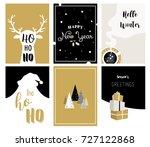 merry christmas cards ...   Shutterstock .eps vector #727122868