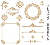 vintage set. floral elements... | Shutterstock . vector #727122943