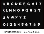 nightmare font   white... | Shutterstock .eps vector #727125118