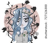 Corpse Bride Cartoon Cute Girl...