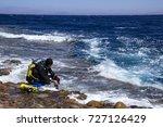 horizontal marine landscape....   Shutterstock . vector #727126429