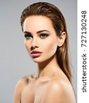 beauty face of the young... | Shutterstock . vector #727130248