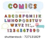 comic font design. funny pop... | Shutterstock .eps vector #727131829