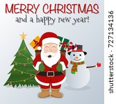 merry christmas vector... | Shutterstock .eps vector #727134136