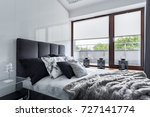 modern bedroom with double bed  ...   Shutterstock . vector #727141774