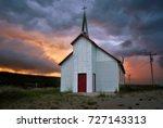 Storm Approaching Church In...