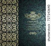 vintage card with elegant... | Shutterstock .eps vector #727143640