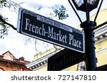 french market place sign  new... | Shutterstock . vector #727147810