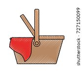 picnic basket icon colored... | Shutterstock .eps vector #727150099