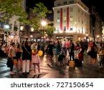 unrecognizable silhouettes of... | Shutterstock . vector #727150654