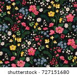 trendy seamless floral pattern... | Shutterstock .eps vector #727151680
